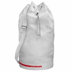 PRADA Luna Rossa Men's Gray Mariner Duffel Bag